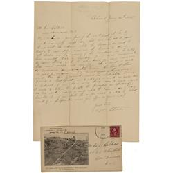 NV - Belmont,Nye County - Jan 20, 1915 - Belmont  Letter & Cover - Clint Maish Collection