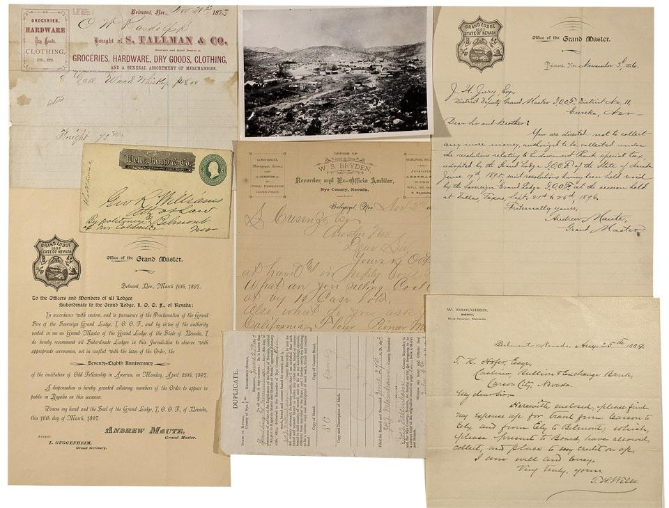 NV - Belmont,Nye County - 1873-1897 - Belmont Merchant Document Collection  - Clint Maish Collection