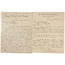 NV - Belmont,Nye County - 1895 - Belmont, Nevada Correspondence - Gil Schmidtmann Collection