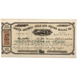 NV - Big Creek,Lander County - 1863 - North Central Gold and Silver Mining Company Stock Certificate