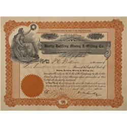 NV - Bullfrog,Nye County - Dec 3 1906 - Beatty Bullfrog Mining & Milling Co. Stock Certificate