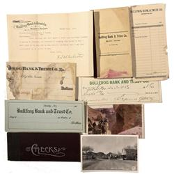 NV - Bullfrog,Nye County - 1908 - Bullfrog Bank and Trust Documents