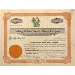 NV - Bullfrog,Nye County - 1907 - Bullfrog Golden Sceptre Mining Company Stock - Fenske Collection