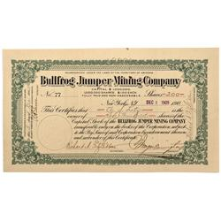 NV - Bullfrog,Nye County - 1905 - Bullfrog Jumper Mining Company Stock - Fenske Collection
