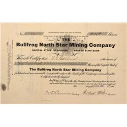 NV - Bullfrog,Nye County - 1905 - Bullfrog North Star Mining Company Stock - Gil Schmidtmann Collect