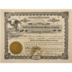 NV - Bullfrog,Nye County - March 10th, 1906 - Bullfrog Red Mountian Mining Company Stock Certificate