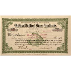 NV - Bullfrog,Nye County - 1905 - Bullfrog, Original Mines Syndicate Stock - Gil Schmidtmann Collect