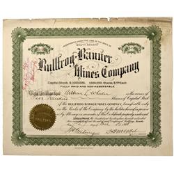NV - Bullfrog,Nye County - 1908 - Bullfrog-Banner Mines Company Stock - Fenske Collection