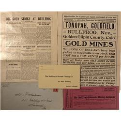 NV - Bullfrog,Nye County - 1905 - Bullfrog-Colorado Mining Company Documents - Clint Maish Collectio