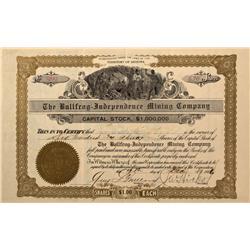 NV - Bullfrog,Nye County - 1906 - Bullfrog-Independence Mining Company Stock - Fenske Collection