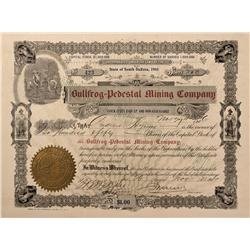 NV - Bullfrog,Nye County - 1906 - Bullfrog-Pedestal Mining Company Stock Certificate