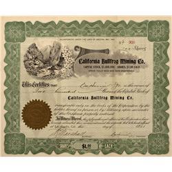 NV - Bullfrog,Nye County - 1905 - California Bullfrog Mining Company Stock Certificate - Clint Maish
