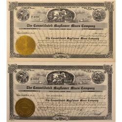 NV - Bullfrog,Nye County - 1956 - Consolidated Mayflower Mines Company Stock Certificates - Gil Schm