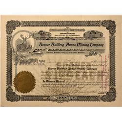 NV - Bullfrog,Nye County - 1907 - Denver Bullfrog Annex Mining Company Stock Certificate - Fenske Co