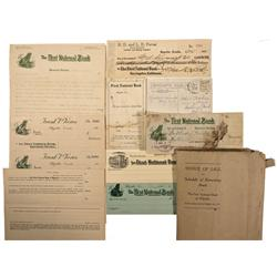 NV - Bullfrog,Nye County - 1911 - First National Bank of Rhyolite Documents