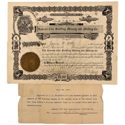 NV - Bullfrog,Nye County - 1907 - Kansas City Bullfrog Mining and Milling Co. Stock