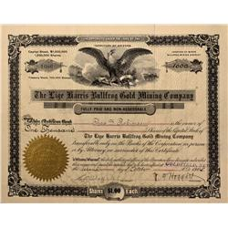 NV - Bullfrog,Nye County - 1905 - Lige Harris Bullfrog Gold Mining Company Stock - Gil Schmidtmann C