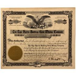 NV - Bullfrog,Nye County - 1906 - Lige Harris Bullfrog Gold Mining Company Stock - Fenske Collection