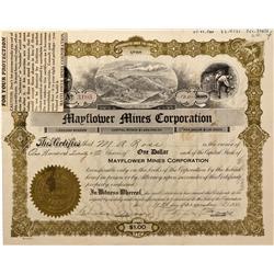 NV - Bullfrog,Nye County - 1931 - Mayflower Mines Corporation Stock - Fenske Collection