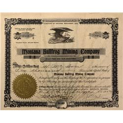 NV - Bullfrog,Nye County - 1907 - Montana Bull Frog Mining Company Stock - Gil Schmidtmann Collectio
