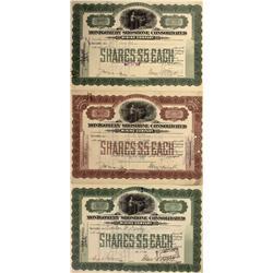 NV - Bullfrog,Nye County - 1909 - Montgomery Shoshone Consolidated Mining Company Stock - Gil Schmid
