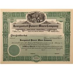 NV - Bullfrog,Nye County - Reorganized Pioneer Mines Company Stock (6 unissued) - Gil Schmidtmann Co