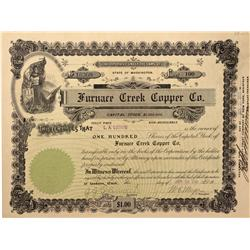 NV - Death Valley,Nye County - 1908 - Furnace Creek Copper Company Stock - Gil Schmidtmann Collectio