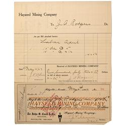 NV - Death Valley,Nye County - 1907 - Hayseed Mining Company Documents - Clint Maish Collection