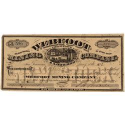 NV - Bullion,Elko County - January 4, 1876 - Webfoot Mining Company, Stock - Gil Schmidtmann Collect