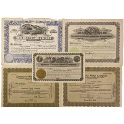NV - Candelaria,Mineral County - 1915, 1919, 1920, 1923, 19241925 - Candelaria Area Mining Stock Cer