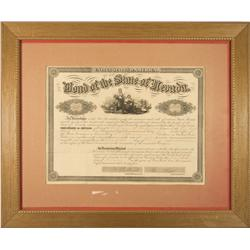 NV - Carson City,December 20, 1864 - Nevada Bond - Clint Maish Collection