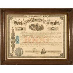 NV - Carson City,March 15, 1864 - Nevada Territory Bond *Territorial* - Clint Maish Collection