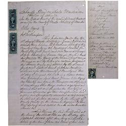 NV - Carson City,Ormsby County - 1863 - Sheriff's Deed on Sale *Territorial* - Clint Maish Collectio