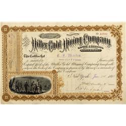 NV - Cold Mountain,Esmeralda County - 1881 - Miller Gold Mining Company Stock Certificate - Fenske C
