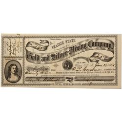 NV - Como,Lyon County - 1864 - Gold and Silver Mining Company Stock Certificate - Clint Maish Collec