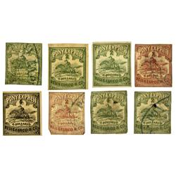 NV - Comstock,1861 - Pony Express Stamps