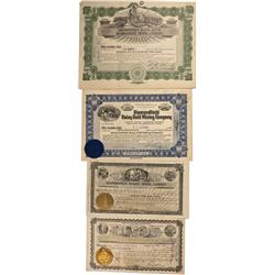 NV - Diamondfield,Esmeralda County - Diamondfield Stock Certificate Group