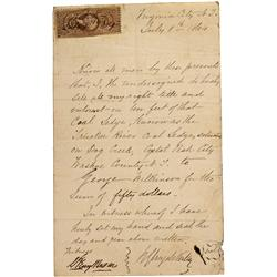 NV - Dog Creek,Washoe County - 1864 - Deed of Sale *Territorial* - Clint Maish Collection