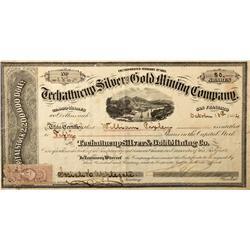 NV - El Dorado Canyon,Oct. 18, 1864 - Techattecup Stock Certificate