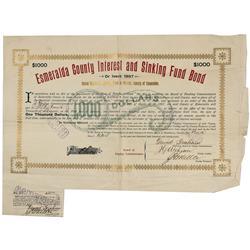 NV - Esmeralda County,april 9, 1897 - Esmeralda County Interest and Sinking Fund Bond - Gil Schmidtm