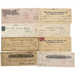 NV - Eureka,c1885 - Eureka Check Collection - Gil Schmidtmann Collection