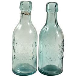 NV - Eureka,c1880 - Mau & Co. Pair of Hutchinson Bottles