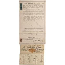 NV - Eureka,1870-1900 - Ultra rare early Eureka documents - Clint Maish Collection