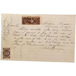 NV - Galena,Douglas County - 1870 - Indenture - Clint Maish Collection