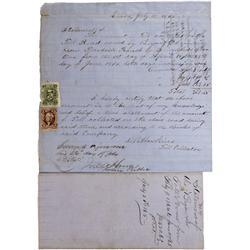 NV - Genoa,Douglas County - 1865 - Genoa Toll Road Statement - Clint Maish Collection
