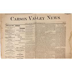 NV - Genoa,Douglas County - October 30, 1875 - Genoa, NV Newspaper - Gil Schmidtmann Collection