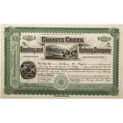 NV - Golconda,Humboldt County - 1900 - Granite Creek Smelting and Refining Company Stock Certificate