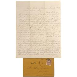 NV - Gold Hill,Storey County - 1865 - Early Gold Hill Cover and Letter - Clint Maish Collection