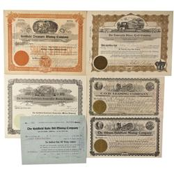 NV - Goldfield,Esmeralda County - 1905, 1906, 1910 - Goldfield Area Mining Stock Certificates - Fens