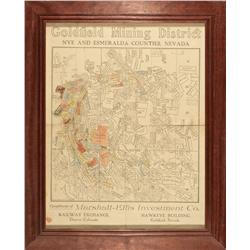 NV - Goldfield,Esmeralda County - c1908 - Goldfield Mining District Map
